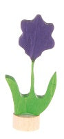Purple Flower Deco Figure