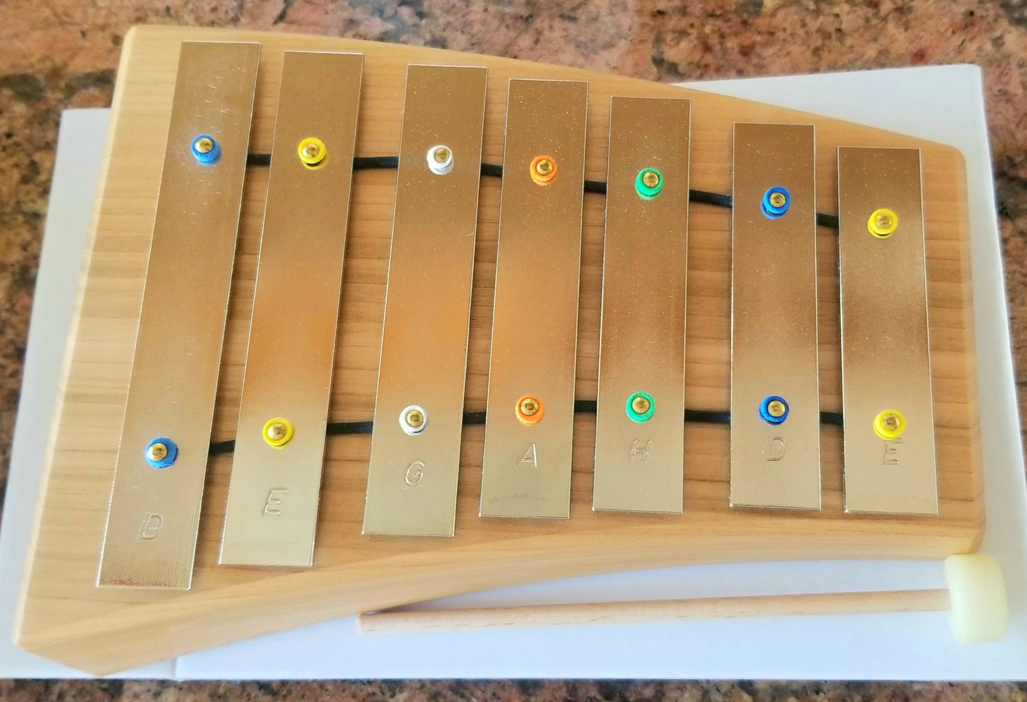 Choroi Carillon pentatonic Glockenspiel made from steel - 7 tone