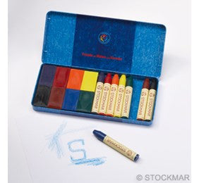 Stockmar Wax Stick/Block Crayons - 8 of each color standard assortment