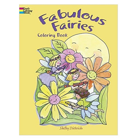 Coloring Book - Fabulous Fairies (paperback)
