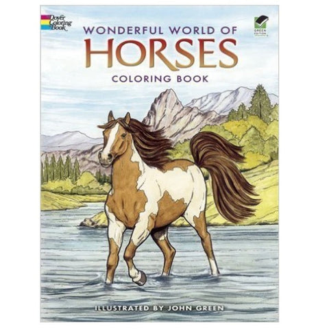 Coloring Book - Wonderful World of Horses (paperback)