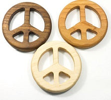 Peace Sign Organic Baby Teether