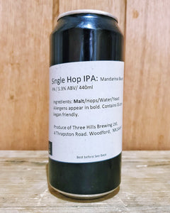 Three Hills Brewing - Mandarina Bavaria IPA