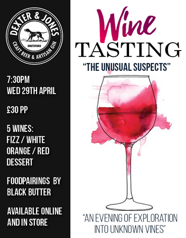 """The Unusual Suspects"" Wine Tasting Evening - Wednesday 29th April 2020"