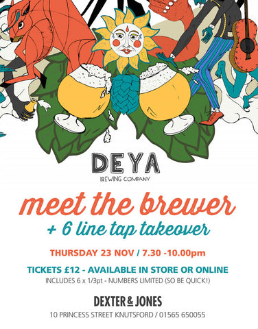 Meet The Brewer 'Deya' - Thursday 23rd November 2017