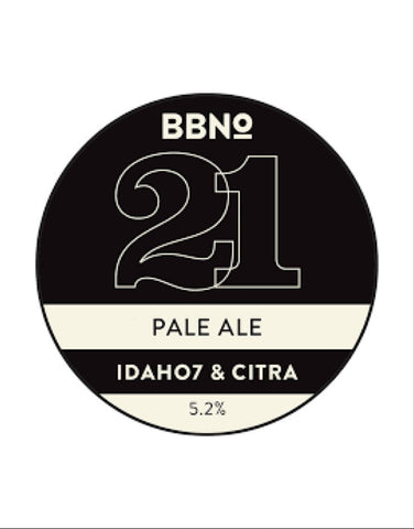 Draft: Brew By Numbers - 21 Pale Ale Idaho 7 & Citra (5.2%)