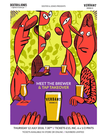 Verdant Brewing Meet the Brewer & Tap Takeover - Thursday 12th July 2018