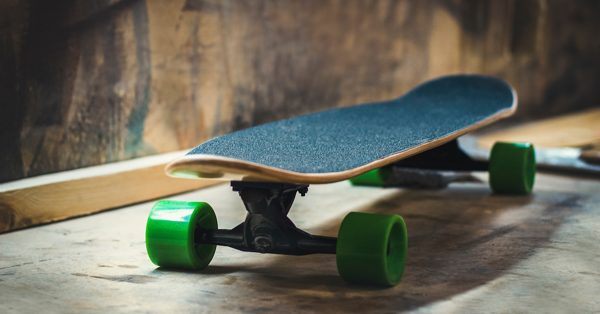 A skateboard made of hemp