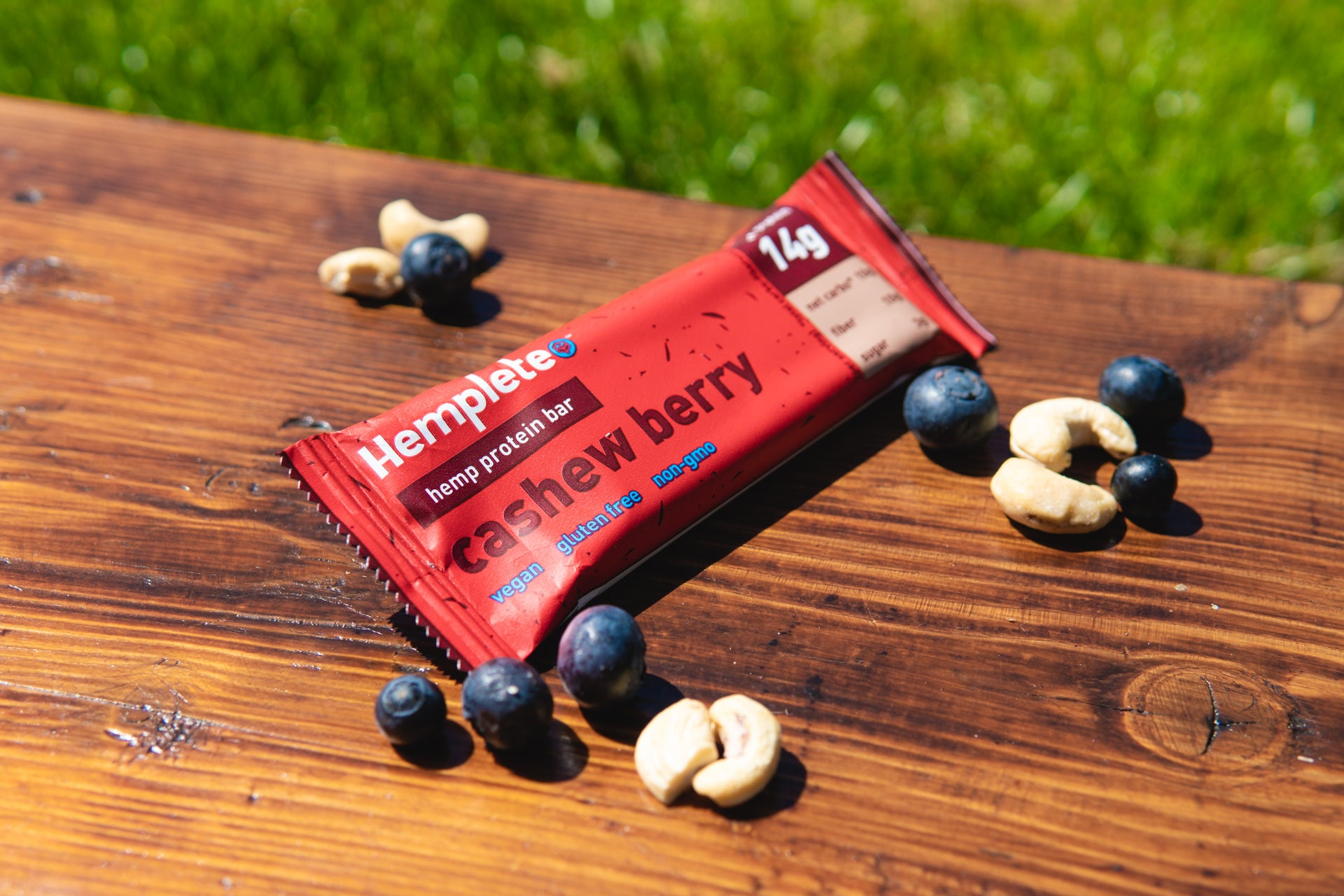 hemp protein bar with berries and nuts