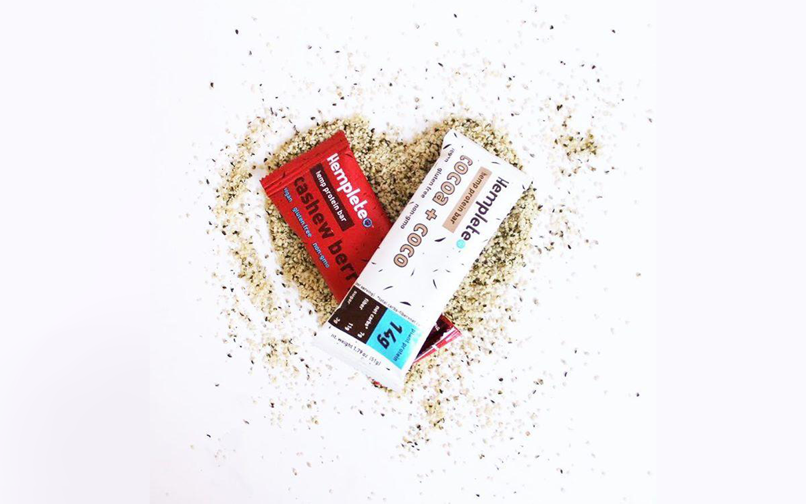 Sustainable hemp protein bars made with healthy, plant-based ingredients