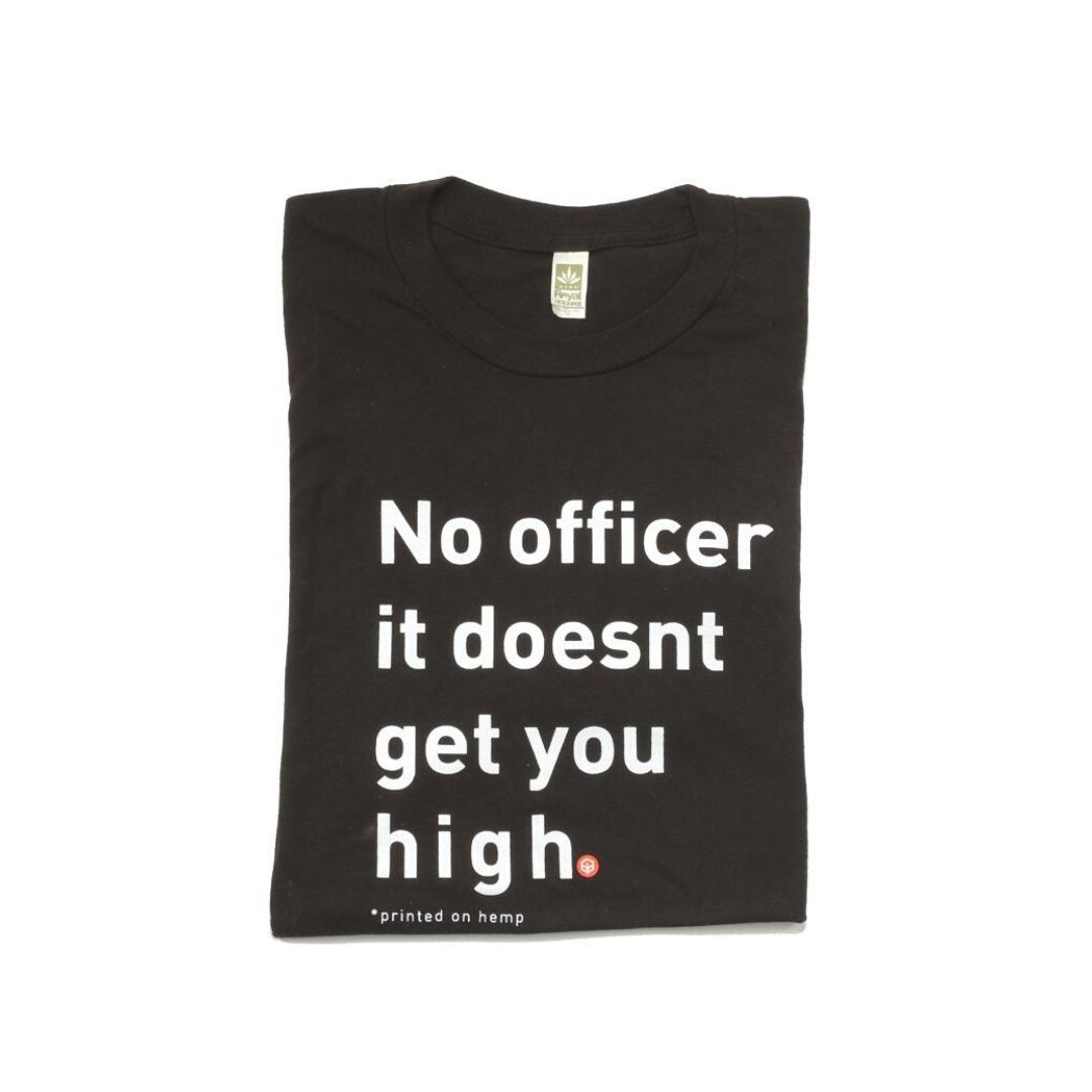 No Officer Unisex Hemp T-Shirt