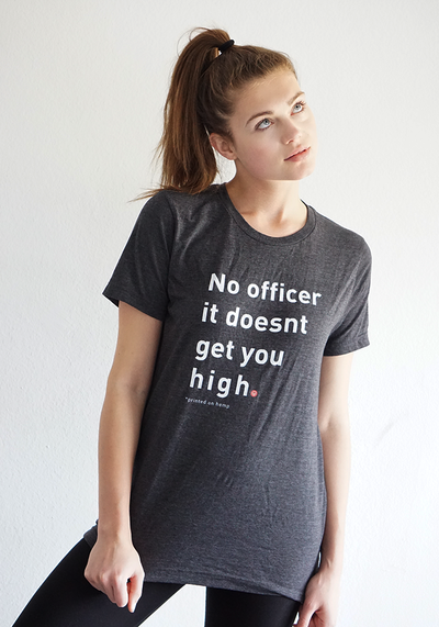 No Officer Unisex Hemp T-Shirt - Hemplete Vegan Hemp Protein Bars