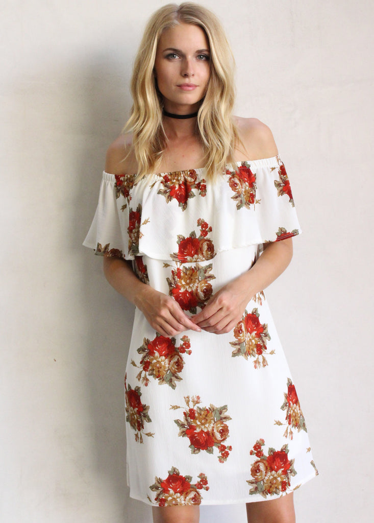 GINA FLORAL TUNIC - JD LUXE