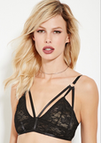 STRAPPY LACE BRALETTE - JD LUXE  - 2
