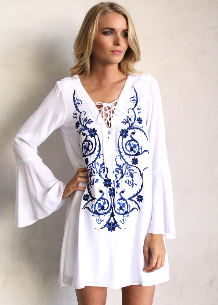 DUNCAN EMBROIDERED TUNIC - JD LUXE