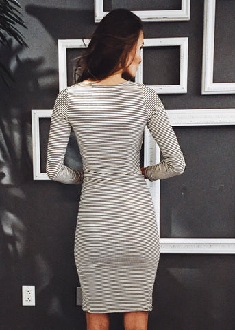 DONNA CRISS CROSS BODYCON