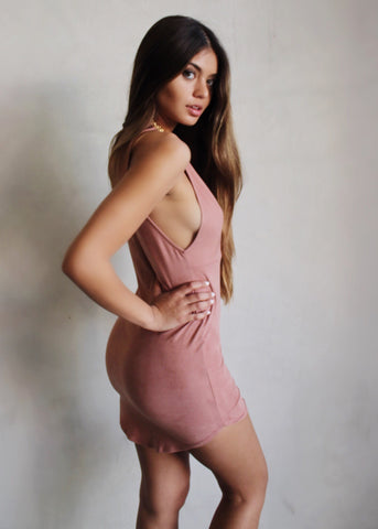 LOGAN SUEDE DRESS