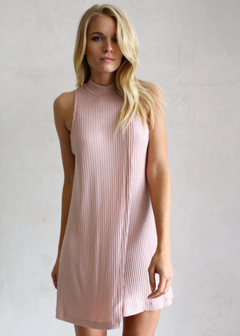KERRY BLUSH HIGH NECK DRESS