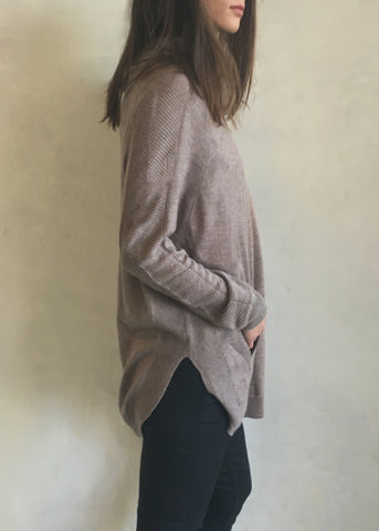 CASPIAN COWL NECK SWEATER W/ POCKETS