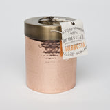 HOMESTEAD CANDLE HAMMERED CANISTER - AMBROSIA - JD LUXE