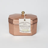 HOMESTEAD CANDLE OCTAGON TEA TIN - FERN - JD LUXE