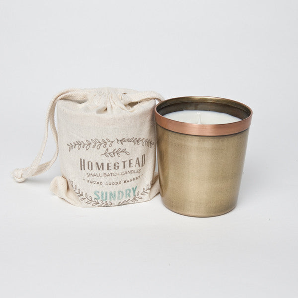 HOMESTEAD CANDLE IN COTTON BAG - SUNDRY - JD LUXE