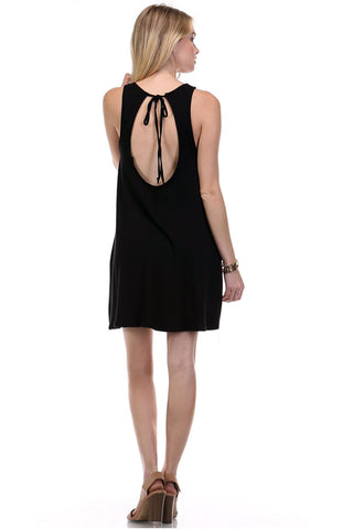 TIE BACK JERSEY DRESS