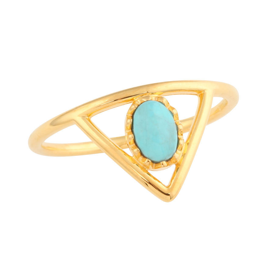 ALL SEEING EYE TRIANGLE RING - JD LUXE