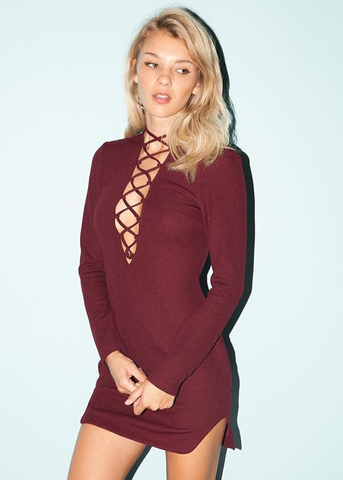 FARON LACE UP DRESS