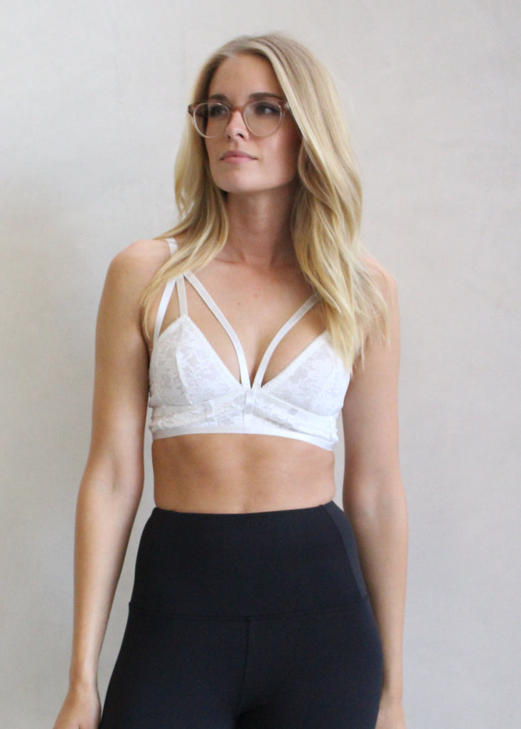 STRAPPY LACE BRALETTE - JD LUXE  - 1