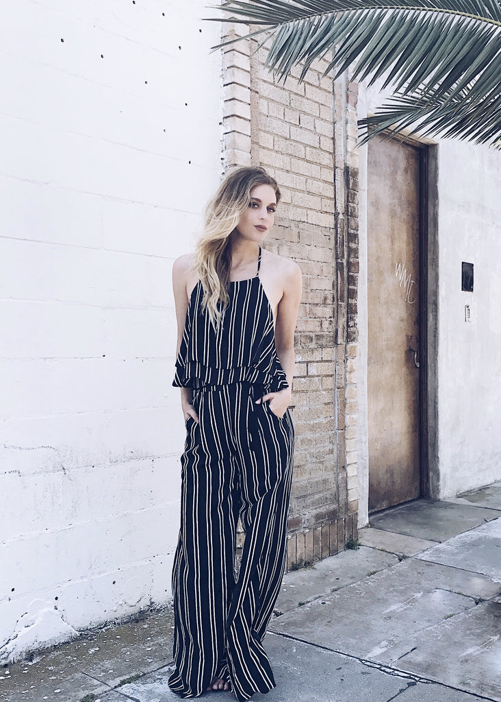 CHIARA STRIPED PANTS