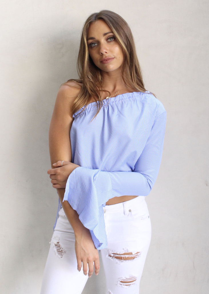 CAPE COD ONE SHOULDER TOP - JD LUXE