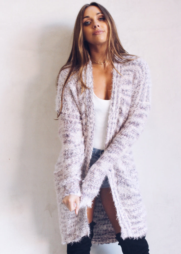 COTTON CANDY FUZZY CARDIGAN