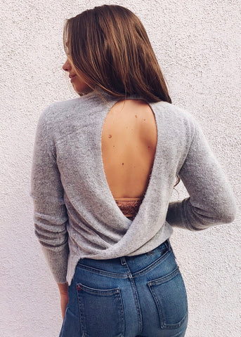 ASH SOFT OPEN BACK SWEATER