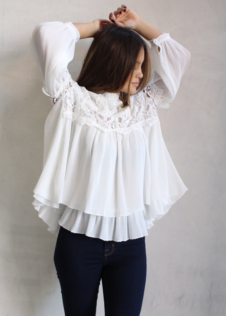 WHITE SYMPHONY BLOUSE - JD LUXE  - 1