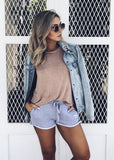 TWO LIPS DENIM JACKET - JD LUXE