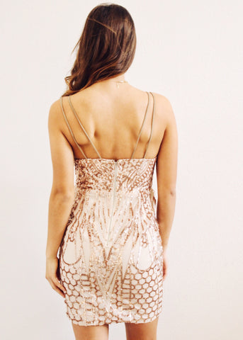 ROSE GOLD WONDERLAND DRESS