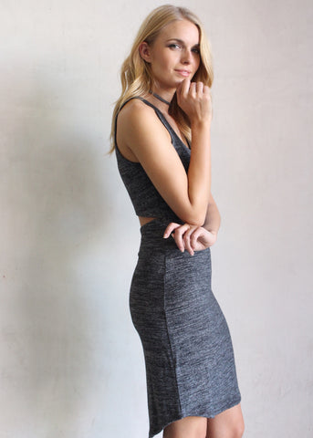 GREY SKIES MIDI DRESS