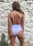 PEONY LACE UP SWIMSUIT