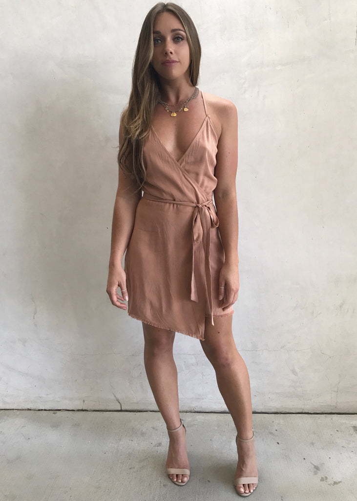 SANDSTONE TIE DRESS - JD LUXE