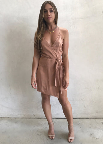 SANDSTONE TIE DRESS