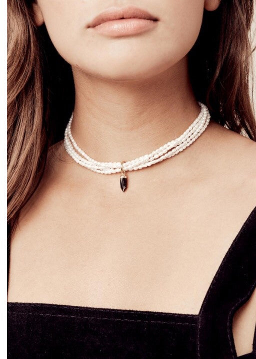 VANESSA MOONEY - MADISON PEARL NECKLACE - JD LUXE  - 1