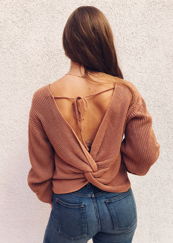 MINTON SOFT SWEATER IN BLUSH