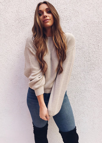 MINTON SOFT SWEATER IN SLATE
