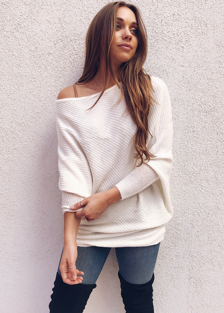 SOFT AS SNOW SWEATER