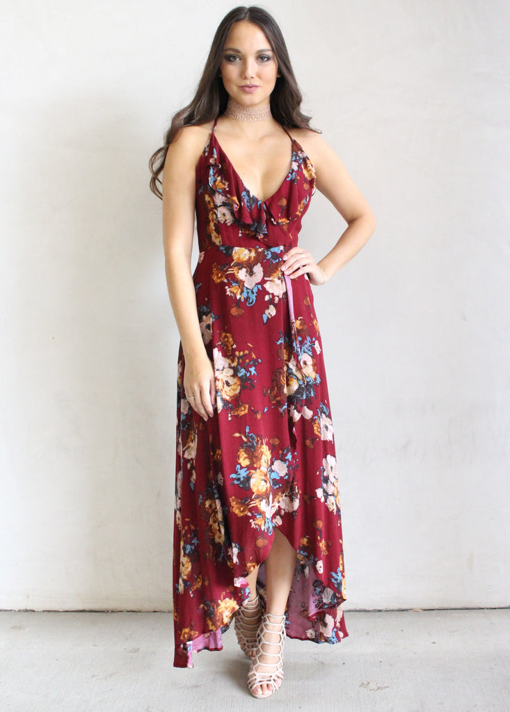 HILARY FLORAL MAXI - JD LUXE