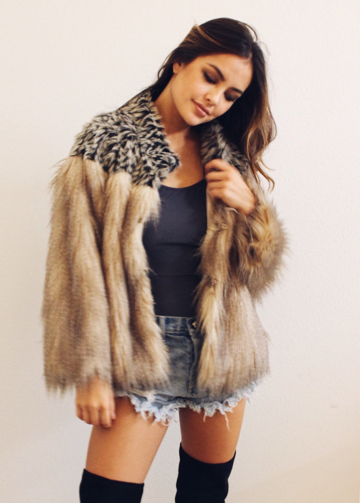 OLIVIA FUR COAT - JD LUXE  - 1