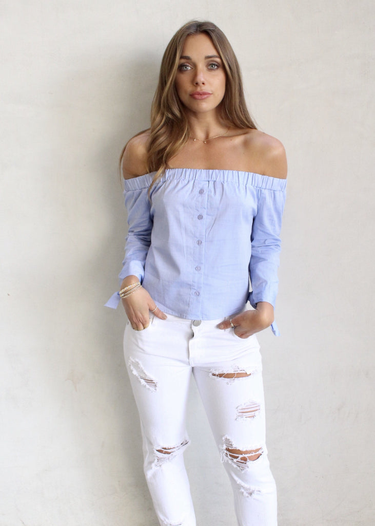 ORA OFF THE SHOULDER TOP - JD LUXE