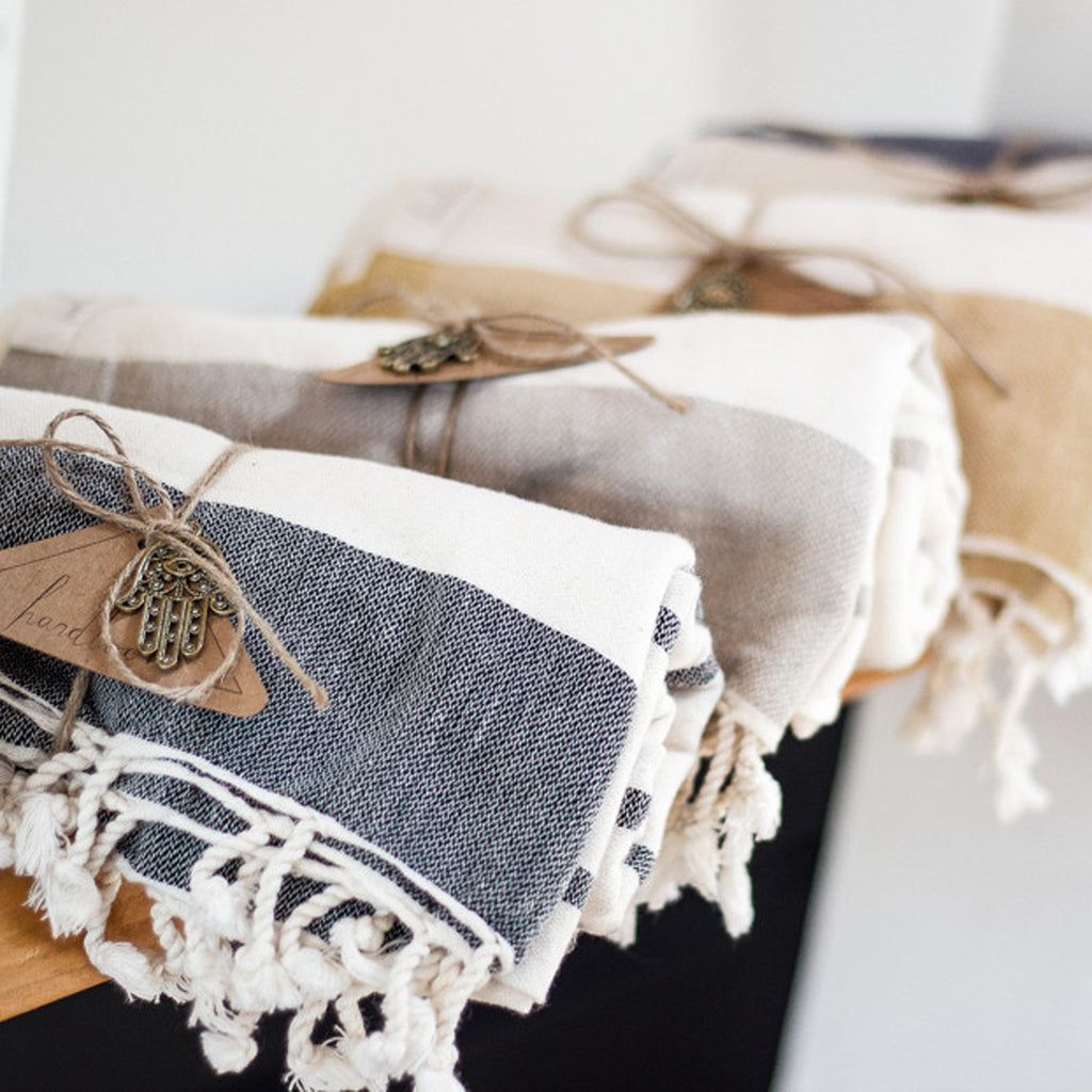 "HANDLOOM ""TURKISH TOWEL"" - JD LUXE"