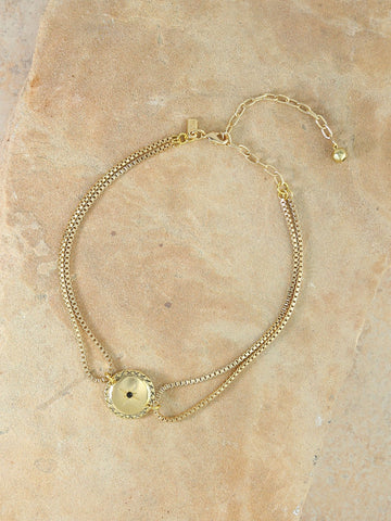 VANESSA MOONEY - THE GHOST FACE CHAIN BRACELET